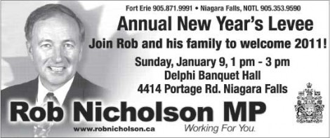 Rob Nicholson New Year's Levee announcement