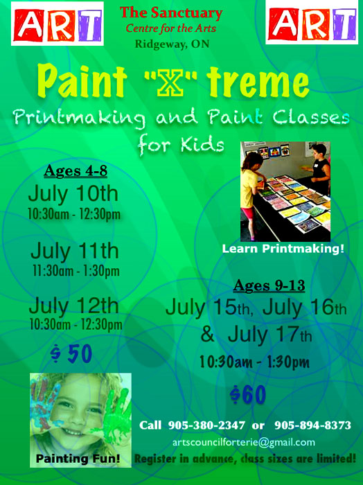 Summer Art Classes Poster